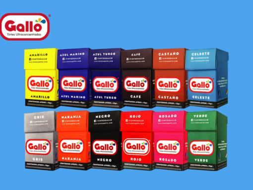 Tintes de ropa: GALLO